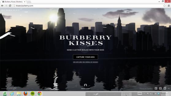 burberry, kisses, microsite, lipstick, campaign